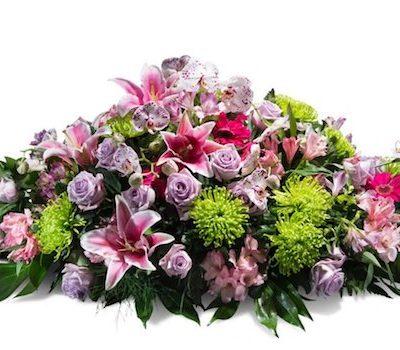 Cojín de flores frescas