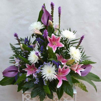 Centro decorativa de flores frescas naturales