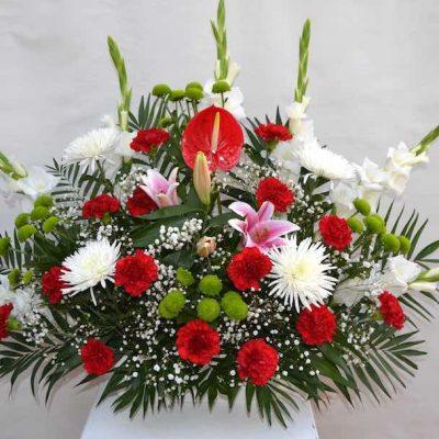 Centro de flores grande variado