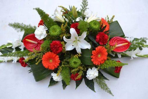 Cojín grande de flores variadas
