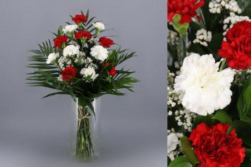 Ramos de nicho blanco y rojo