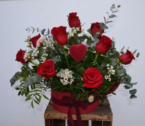 Centro sombrero de rosas